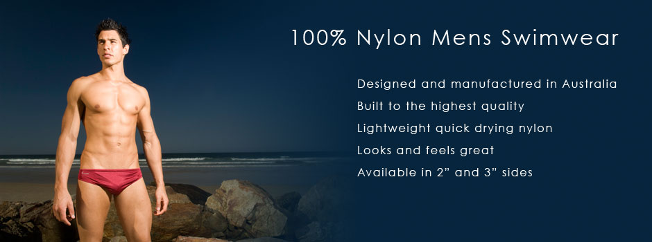 Caussie - 100% Nylon Mens Swimwear. Designed and manufactured in Australia.